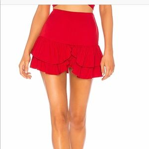 INDAH cobain red mini skirt size small